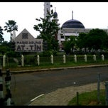 Photo taken at Masjid Agung At-Tin by Anton K. on 2/15/2013