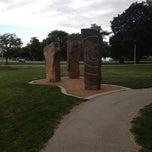 Photo taken at Sculpture @ McKinley Marina by Jelani N. on 8/10/2013