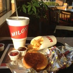 Photo taken at Milo's Hamburgers by Jasmine L. on 11/4/2012