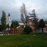 Photo taken at Plaza de Armas de Puerto Natales by Nostar B. on 11/24/2012