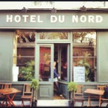 Photo taken at Hôtel du Nord by Mathieu B. on 12/11/2012