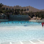 Photo taken at Mandalay Bay Pool-The Beach by Raquel W. on 4/20/2013