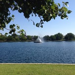 Photo taken at Byrd Park Boat (Fountain) Lake by Pete H. on 8/4/2013