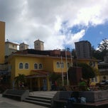 Photo taken at Plaza Bolívar by Jhon B. on 1/10/2014