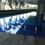 Photo taken at Swimming Pool @ Villa Puteri by Mohd F. on 3/19/2013