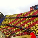Photo taken at Camp Nou by Juanma on 10/27/2013