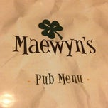 Photo taken at Maewyn's Irish Pub & Restaurant by Shane Z. on 11/2/2012
