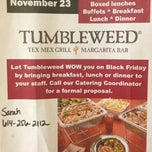 Photo taken at Tumbleweed Tex Mex Grill by Kevin S. on 10/10/2012