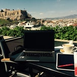 Photo taken at Athens Gate Roof Garden by Lukas D. on 3/30/2015