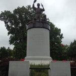 Photo taken at Arthur Ashe Monument by David Y. on 5/4/2013