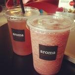 Photo taken at Aroma Espresso Bar by HanBi K. on 7/20/2013