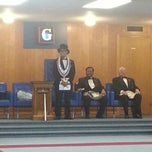 Photo taken at Skokie Masonic Centre by Lizelle M. on 12/9/2012