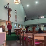 Photo taken at Gereja Hati Yesus yang Maha Kudus by AGUSTINUS R. on 6/2/2013