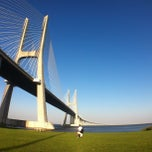 Photo taken at Ponte Vasco da Gama by Vitor S. on 8/24/2013