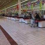 Photo taken at Auchan Fehér tó by Svetislav G. on 10/17/2012