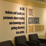 Photo taken at @GWAdmissions Welcome Center by GW A. on 10/9/2012