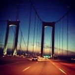 Photo taken at Delaware Memorial Bridge by Brittany P. on 5/6/2013