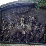 Photo taken at Robert Gould Shaw Memorial by Harpreet M. on 9/1/2014