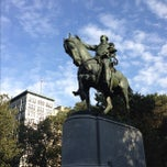 Photo taken at George Washington Statue by Carmine N. on 10/12/2012