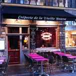 Photo taken at La creperie de la vieille bourse by Thomas G. on 10/19/2011