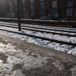 Photo taken at Tramhalte Vennepluimstraat by Iris v. on 2/12/2013