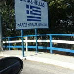 Photo taken at Greece Kipoi Border Station (Tελωνειο Kηπων) by Ksenia D. on 7/31/2012