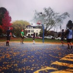 Photo taken at Kits Beach Basketball Courts by Jamie K. on 10/19/2013
