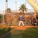 Photo taken at Buccaneer baseball field by Gina Renee on 6/18/2013