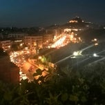 Photo taken at Athens Gate Roof Garden by Laura L. on 7/10/2014