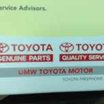 Photo taken at Toyota Service Centre Sg Besi KL by Kelvin J. on 7/31/2013