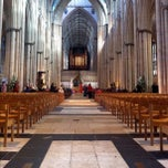 Photo taken at York Minster by Samuel N. on 10/14/2012