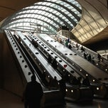 Photo taken at Canary Wharf London Underground Station by Michael H. on 10/7/2012
