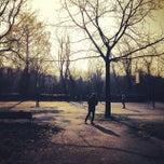 Photo taken at Parco di via Argelati by Francesco B. on 2/22/2014