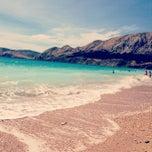 Photo taken at Baška Beach by tretina t. on 7/6/2013