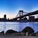 Photo taken at Manhattan Bridge by Tochtli G. on 5/7/2013