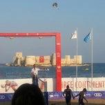 Photo taken at Kizkalesi Akdeniz Oyunlari Plaj Voleybol by Oguz☆ ★. on 6/28/2013