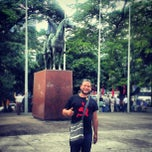 Photo taken at Plaza Bolivar, San Cristobal by Jose D. on 8/25/2013