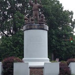 Photo taken at Arthur Ashe Monument by Mike M. on 7/11/2014