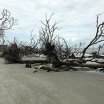 Photo taken at Hunting Island Beach by Roman H. on 10/13/2013