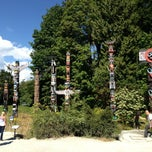 Photo taken at Totem Poles in Stanley Park by Benjamin L. on 7/28/2013