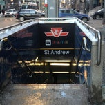 Photo taken at St Andrew Subway Station by Anthony D. on 2/9/2013