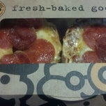 Photo taken at Einstein Bros. Bagels @ The Hub by Kacie R. on 4/18/2013