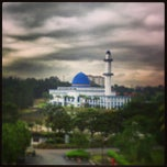 Photo taken at Masjid UNITEN by MEji N. on 2/27/2013