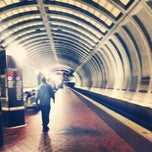 Photo taken at Friendship Heights Metro Station by Lauren S. on 8/27/2012