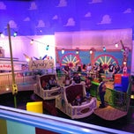 Photo taken at Toy Story Midway Mania by Liliana F. on 12/31/2012
