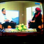 Photo taken at Grand Studio TVRI Sumbar by Andriani F. on 10/31/2012