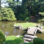 Photo taken at Shofuso Japanese House and Garden by jj d. on 8/12/2013