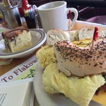 Photo taken at Flakowitz Bagel Inn by Christopher C. on 10/18/2013