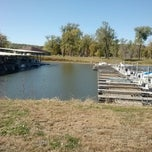 Photo taken at N P Dodge Park Marina by Natalie Y. on 10/27/2013