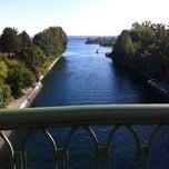 Photo taken at Montlake Bridge by David M. on 9/23/2011